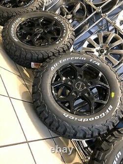 16 Alloy Wheels Ford Transit Custom Bfg All Terrain Tyres Gloss Black 5x160