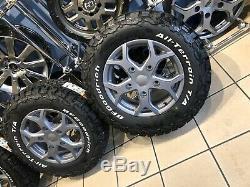 16 Alloy Wheels Ford Transit Custom Bfg All Terrain Tyres Matt Carbon
