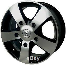 16 Black 1250kg Alloy Wheels 205 65 16 Tyres Ford Transit Custom Trend Van