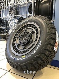 16 Black Rhino Alloy Wheels Ford Transit Custom Bfg All Terrain Tyres Alloys Gn