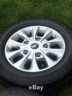 16 Ford Transit Gloss Black Mk8 Mk7 Mk6 Limited Alloy Wheels 215 65 16 Tyres