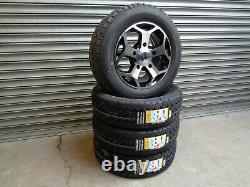16 Jbw Tst Black/mf Alloy Wheels+ Van Tyres Ford Transit Custom (set Of 4)