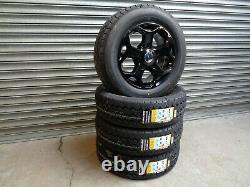 16 Jbw Tst Gloss Black Alloy Wheels+ Van Tyres Ford Transit Custom (set Of 4)