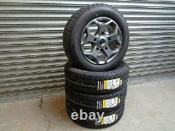 16 Jbw Tst Grey Alloy Wheels+ Van Tyres Ford Transit Custom (set Of 4)