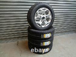 16 Jbw Tst Silver Alloy Wheels+ Van Tyres Ford Transit Custom (set Of 4)