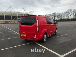 17 Ford Transit Custom Red Swb Euro 6 2.0 Tdci Camper Van Motorhome Fsh No Vat