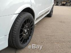 18 Alloy Wheels 1250kg High Load Rated Black XL Tyres Transit Custom Trend 8x18