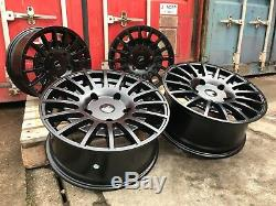 18 Black M Sport Alloy Wheels 2454518 XL Tyres Ford Custom Van Kombi Transit