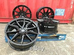 18 Black M Sport Aluwerks Alloy Wheels Tyres Ford Custom Van Kombi Transit new