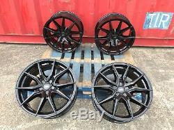 18 FORD TRANSIT ALLOY WHEELS GLOSS BLACK LOAD RATED 5000Kg SPORT CUSTOM 5x160