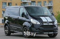 18 Gloss Black Alloy Wheels Tyres Ford Transit ST Van Load Rated 2554518 MK8