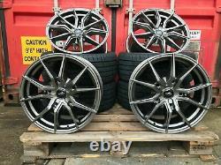18 Gunmetal M Sport Aluwerks Alloy Wheels & Tyres Ford Transit Custom 2019-2020