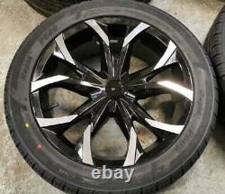 18 Jbw Predator Black/hl Alloy Wheels+tyres To Suit Ford Transit Custom Set 4