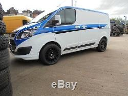 18 M Sport Black 1250kg Alloy Wheels XL Tyres Ford Transit Van Custom MK7 8x18