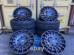 18 MSRT GLOSS BLACK M Sport Aluwerks Alloy Wheels & Tyres Ford Transit Custom
