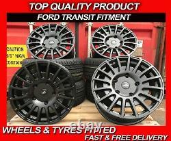 18 Transit RST Style Alloy Wheels Satin Black & Tyres fits Ford Transit Custom
