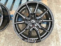 18 Transit Spyder Alloy Wheels + Tyres Black Ford Transit Custom Van 1250kg