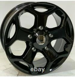 18gloss Black Ford St Transit Alloy Wheels-Commercial Van with tyres Custom