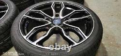20 Jbw Dagen Black/hl Alloy Wheels+tyres To Suit Ford Transit Custom Set 4