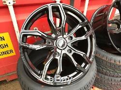 20 Velocity Load Rated Black Alloy Wheels & Tyres Fit Ford Transit Custom New