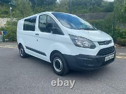 2014 64 Ford Transit Custom Crew Van 290 2.2 Tdci Eco-tech Aircon No Vat