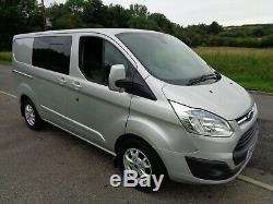 2014 64 Ford Transit Custom Limited SWB Crew Van 6 Seater Van