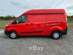 2014 Ford Transit Custom 2.2 Tdci 125 Lwb High Roof 290 L2h2 Van Fsh Red Aircon