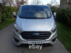 2018 (68reg) Ford Transit Custom LWB Limited 300 In Silver, Super Low Miles