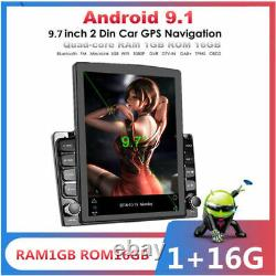 Android 9.1 2Din 9.7In BT Car Stereo Radio Sat Nav GPS WIFI Audio USB MP5 Player