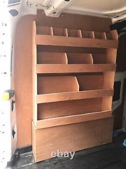 Assembled Ford Transit Custom Van Racking Ply Lining Shelving Swb
