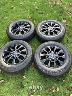 Black Ford Transit Custom Alloy Wheels Limited Mk9 Mk8 Mk7 Mk6 Tyres