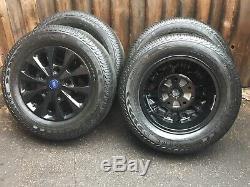 Brand New 16 Ford Transit Custom Gloss Black Mk8 Mk7 Mk6 Limited Alloy Wheels