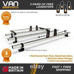 Custom Roof Rack Bars, Ford Transit Custom Low Roof 3 x Roof Bars+Rear Roller