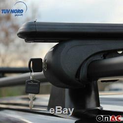 Dachreling + Dachträger Schwarz ALU für Ford Transit Tourneo Custom Lang TÜV ABE