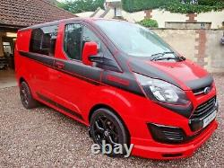 FORD TRANSIT CUSTOM RS EDITION 6 SEAT SPORT CREW CAB 125ps 2013 63 Plate