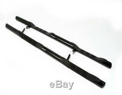 FORD TRANSIT CUSTOM VIPER BLACK SIDE BARS WITH STEPS 76mm SWB