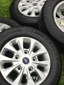 Factory 16 Ford Transit Custom Mk8 Mk7 Limited Alloy Wheels Brand New Tyres