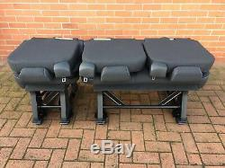 Ford Custom Transit Triple Bench Seat ARMREST + RECLINE + FOLDING + REMOVEABLE