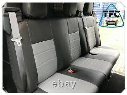 Ford Transit CREW CAB SEAT COVERS FULL ECO LEATHER CUSTOM MADE COVERS