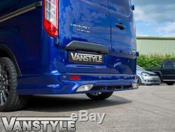 Ford Transit Custom 12-18 Rear Bumper Skirt Spoiler Valance Splitter Diffuser