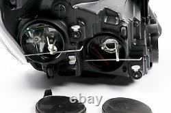Ford Transit Custom 12- Black Headlights Headlamps Set Pair Driver Passenger