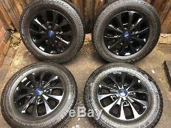 Ford Transit Custom 16 Alloy Wheels Excellent Tyres Gloss Black Mk8 Mk7 Mk6