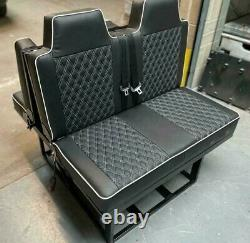 Ford Transit Custom 2+1 Front Seats & Rock Roll Bed Matching Bentley Upholstery