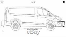 Ford Transit Custom 2 x Rear Decambered Leaf Springs