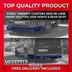 Ford Transit Custom 2012-18 Front Splitter Side Skirts Rear Skirt Sport Kit Lwb