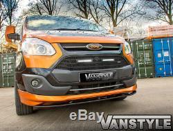 Ford Transit Custom 2012-18 Sport Style Lower Front Splitter & Black Lip Add-on