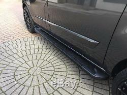 Ford Transit Custom 2012+ Lwb Running Board Step Bar Side Steps Bar Stylish