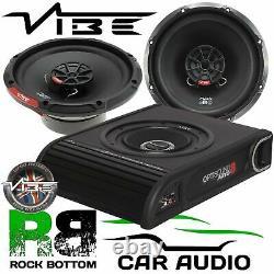 Ford Transit Custom 2012 On Vibe 900W Underseat Sub & Front Door Car Speaker Kit