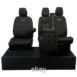 Ford Transit Custom 2013+ Tailored Leatherette Front Seat Covers & Logo 583