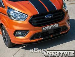 Ford Transit Custom 2018 Sport Style Lower Front Splitter Black Lip Add-on Trim